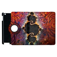 The Eye Of Julia, A Rainbow Fractal Paint Swirl Apple Ipad 3/4 Flip 360 Case by beautifulfractals