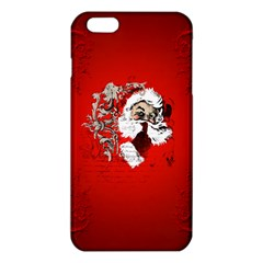 Funny Santa Claus  On Red Background Iphone 6 Plus/6s Plus Tpu Case by FantasyWorld7