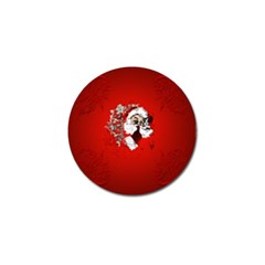 Funny Santa Claus  On Red Background Golf Ball Marker (10 Pack) by FantasyWorld7