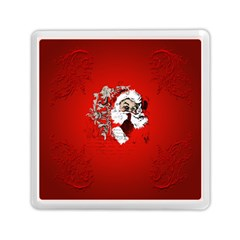 Funny Santa Claus  On Red Background Memory Card Reader (square)  by FantasyWorld7