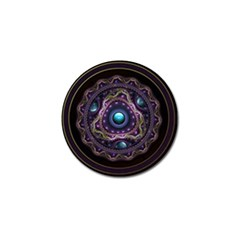 Beautiful Turquoise And Amethyst Fractal Jewelry Golf Ball Marker by beautifulfractals