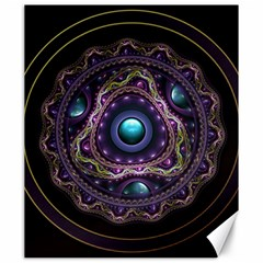 Beautiful Turquoise And Amethyst Fractal Jewelry Canvas 20  X 24   by beautifulfractals
