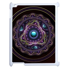 Beautiful Turquoise And Amethyst Fractal Jewelry Apple Ipad 2 Case (white) by beautifulfractals