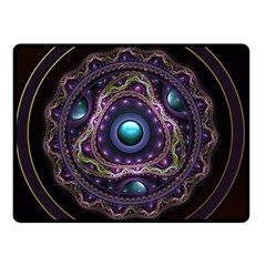 Beautiful Turquoise And Amethyst Fractal Jewelry Double Sided Fleece Blanket (small)  by beautifulfractals