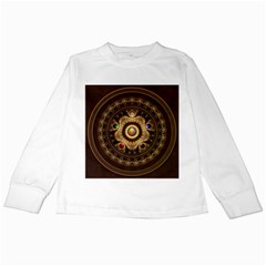 Gathering The Five Fractal Colors Of Magic Kids Long Sleeve T Shirts by beautifulfractals