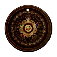 Gathering The Five Fractal Colors Of Magic Round Ornament (two Sides) by beautifulfractals