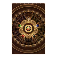 Gathering The Five Fractal Colors Of Magic Shower Curtain 48  X 72  (small)  by jayaprime