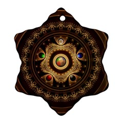 Gathering The Five Fractal Colors Of Magic Snowflake Ornament (two Sides) by jayaprime