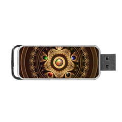Gathering The Five Fractal Colors Of Magic Portable Usb Flash (two Sides) by beautifulfractals