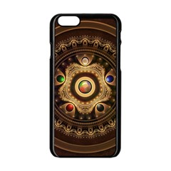 Gathering The Five Fractal Colors Of Magic Apple Iphone 6/6s Black Enamel Case by beautifulfractals