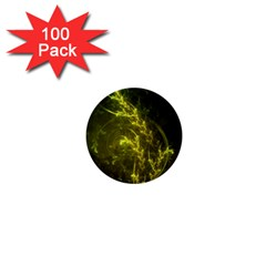 Beautiful Emerald Fairy Ferns In A Fractal Forest 1  Mini Buttons (100 Pack)  by beautifulfractals