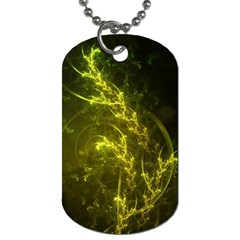Beautiful Emerald Fairy Ferns In A Fractal Forest Dog Tag (one Side) by beautifulfractals