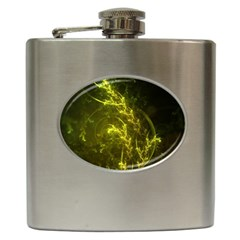 Beautiful Emerald Fairy Ferns In A Fractal Forest Hip Flask (6 Oz) by beautifulfractals