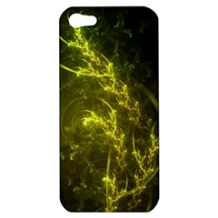Beautiful Emerald Fairy Ferns In A Fractal Forest Apple Iphone 5 Hardshell Case by beautifulfractals