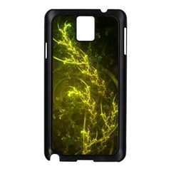 Beautiful Emerald Fairy Ferns In A Fractal Forest Samsung Galaxy Note 3 N9005 Case (black) by jayaprime