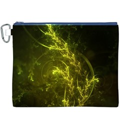 Beautiful Emerald Fairy Ferns In A Fractal Forest Canvas Cosmetic Bag (xxxl) by beautifulfractals