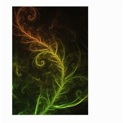 Fractal Hybrid Of Guzmania Tuti Fruitti And Ferns Large Garden Flag (two Sides) by beautifulfractals