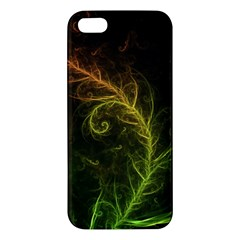 Fractal Hybrid Of Guzmania Tuti Fruitti And Ferns Apple Iphone 5 Premium Hardshell Case by beautifulfractals