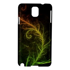 Fractal Hybrid Of Guzmania Tuti Fruitti And Ferns Samsung Galaxy Note 3 N9005 Hardshell Case by jayaprime