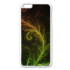 Fractal Hybrid Of Guzmania Tuti Fruitti And Ferns Apple Iphone 6 Plus/6s Plus Enamel White Case by beautifulfractals