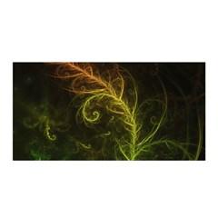 Fractal Hybrid Of Guzmania Tuti Fruitti And Ferns Satin Wrap by beautifulfractals
