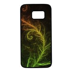 Fractal Hybrid Of Guzmania Tuti Fruitti And Ferns Samsung Galaxy S7 Black Seamless Case by beautifulfractals