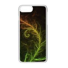Fractal Hybrid Of Guzmania Tuti Fruitti And Ferns Apple Iphone 7 Plus White Seamless Case by beautifulfractals