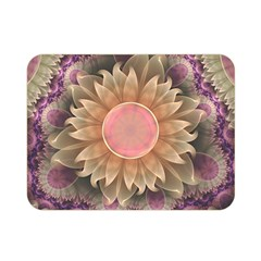 Pastel Pearl Lotus Garden Of Fractal Dahlia Flowers Double Sided Flano Blanket (mini)  by beautifulfractals