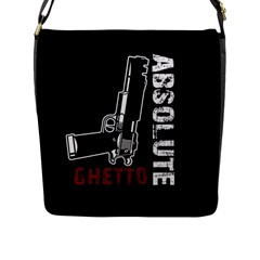 Absolute Ghetto Flap Messenger Bag (l)  by Valentinaart