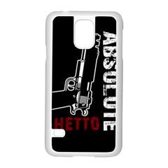 Absolute Ghetto Samsung Galaxy S5 Case (white) by Valentinaart