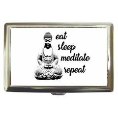 Eat, Sleep, Meditate, Repeat  Cigarette Money Cases by Valentinaart