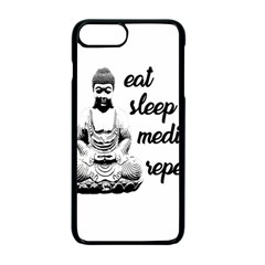 Eat, Sleep, Meditate, Repeat  Apple Iphone 7 Plus Seamless Case (black) by Valentinaart