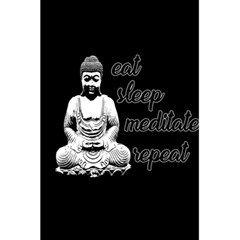 Eat, Sleep, Meditate, Repeat  5 5  X 8 5  Notebooks by Valentinaart