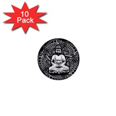 Ornate Buddha 1  Mini Buttons (10 Pack)  by Valentinaart