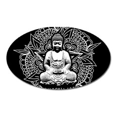 Ornate Buddha Oval Magnet by Valentinaart