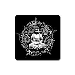 Ornate Buddha Square Magnet by Valentinaart
