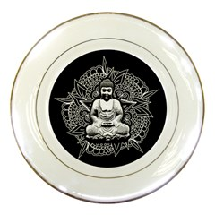 Ornate Buddha Porcelain Plates by Valentinaart