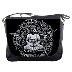 Ornate Buddha Messenger Bags by Valentinaart