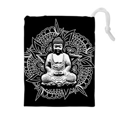 Ornate Buddha Drawstring Pouches (extra Large) by Valentinaart
