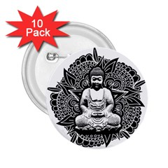 Ornate Buddha 2 25  Buttons (10 Pack)  by Valentinaart
