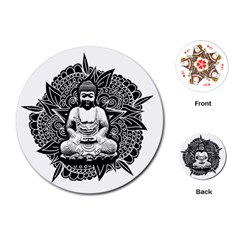 Ornate Buddha Playing Cards (round)  by Valentinaart