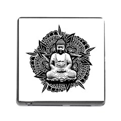 Ornate Buddha Memory Card Reader (square) by Valentinaart
