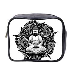 Ornate Buddha Mini Toiletries Bag 2 Side by Valentinaart