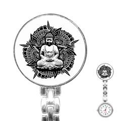 Ornate Buddha Stainless Steel Nurses Watch by Valentinaart