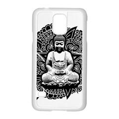 Ornate Buddha Samsung Galaxy S5 Case (white) by Valentinaart