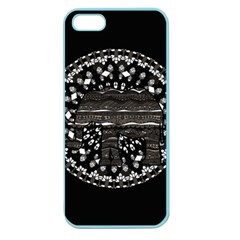 Ornate Mandala Elephant  Apple Seamless Iphone 5 Case (color) by Valentinaart