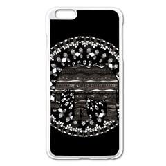 Ornate Mandala Elephant  Apple Iphone 6 Plus/6s Plus Enamel White Case by Valentinaart