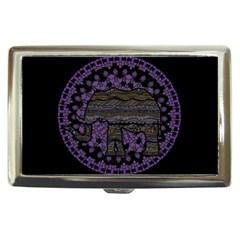 Ornate Mandala Elephant  Cigarette Money Cases by Valentinaart