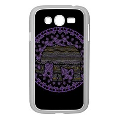 Ornate Mandala Elephant  Samsung Galaxy Grand Duos I9082 Case (white) by Valentinaart