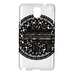 Ornate Mandala Elephant  Samsung Galaxy Note 3 N9005 Hardshell Case by Valentinaart